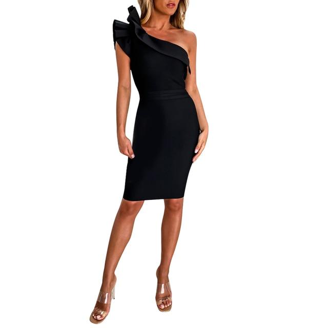 Drop Shoulder Party Dress 1