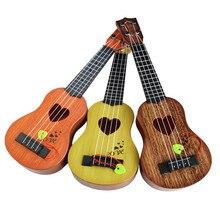 Мини-гитара для начинающих, Классическая, безопасная, простая гитара укулеле, 4 струны, образовательный музыкальный концертный инструмент, игрушка для детей, рождественский подарок