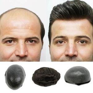 thin skin base human hair mens wigs skins hair replacement mens toupee