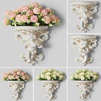 Vaso de flores de gesso  corbel de parede pendurado  vaso de flores  artesanato  jardim  casa  decoração