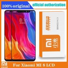 Original 6.21 Amoled Display mit rahmen für Xiaomi MI8 Mi 8 Globale LCD Touch Screen Digitizer Montage Ersatz Teile
