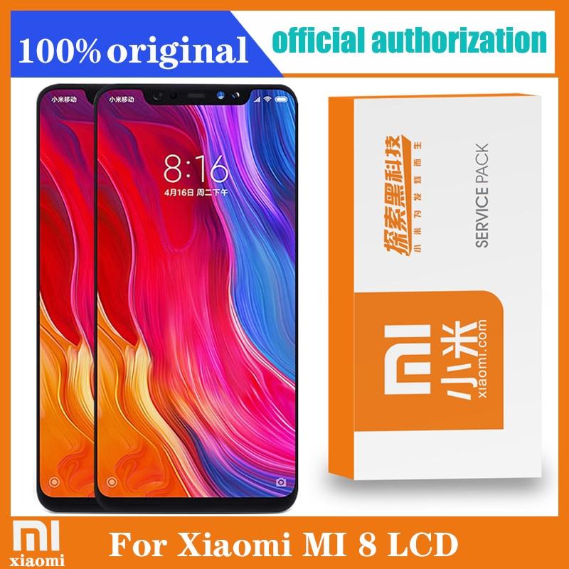 Оригинальный 6,21 ''Amoled дисплей с рамкой для Xiaomi MI8 Mi 8 Global LCD сенсорный экран дигитайзер в сборе запасные части