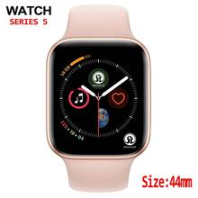 44mm caso bluetooth relógio inteligente série 4 monitor de freqüência cardíaca smartwatch android para ios pedômetro relogio inteligente