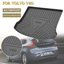 Tapis de sol Mat pour Volvo V40 2013 – 2019, couverture de coffre arrière pour coffre de voiture