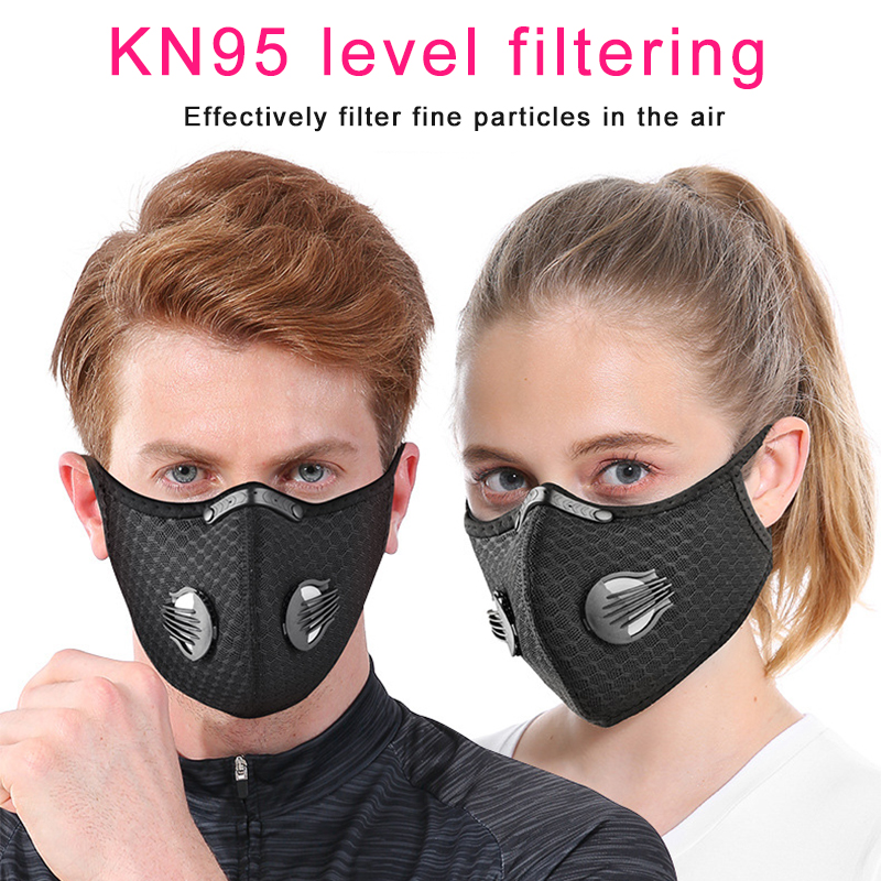 Sport Protection PM2.5 Anti Haze Mask Breath Valve Anti-droplet Anti-dust Mouth Mask Filter Respirator Mouth-muffle Masks