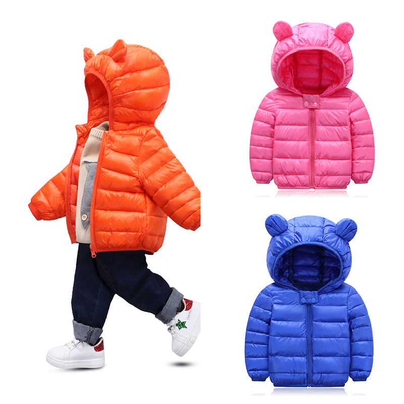 Baby Jumpsuit Girls Jacket Snow-Wear Infant Coat Hooded Cotton for Boys And Winter Kids