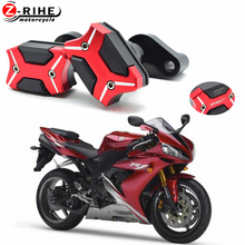 Motorcycle Accessories CNC Aluminum Frame Crash Pads Engine Case Sliders Protector Pour For Yamaha YZF R1 YZF-R1 2007-2008 cnc frame crash pad engine case stator sliders protector for yzf r6 2006 2007 motorcycle
