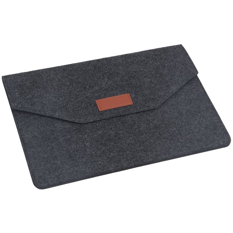 Fashion Soft Sleeve Bag Case For Apple Macbook Air Pro Retina 13 Inch Laptop Anti-scratch Cover For Mac Book 13.3 Inch- Dark Gra