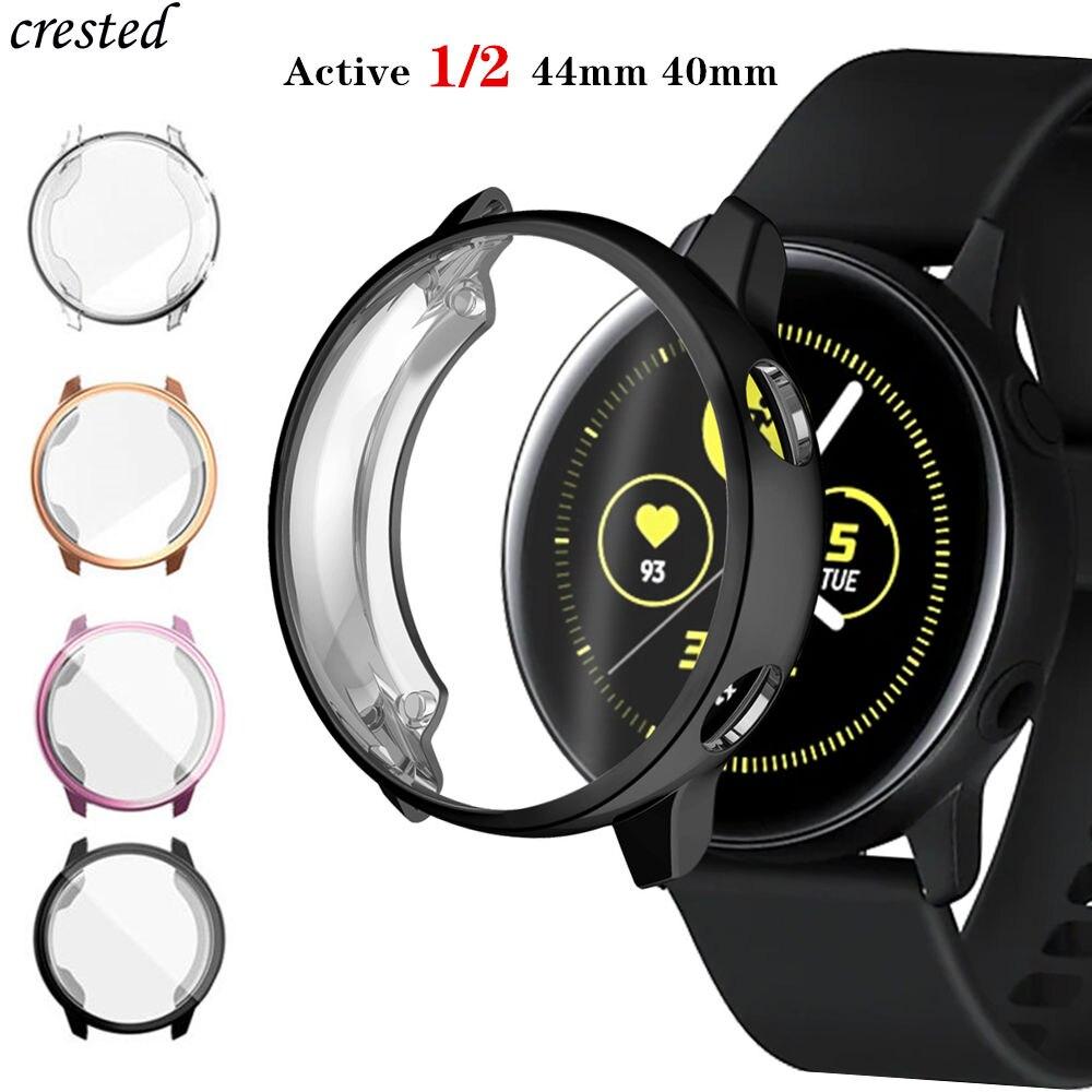 Protecteur décran + étui pour samsung Galaxy watch active 2 44mm 40mm housse tout autour en TPU pare-chocs + film montre accessoires Active2