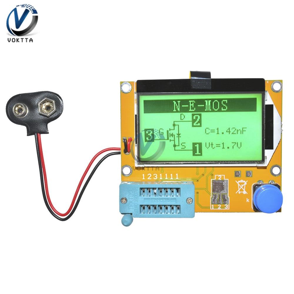 LCR-T4 Mega328 M328 LCD Screen Digital Transistor Tester Meter Backlight Diode Triode Capacitance ESR Meter MOS/PNP/NPN/JFET