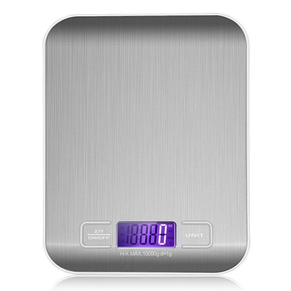 Бытовые кухонные весы, электронные на 5 кг/10 кг 1 г с тонким ЖК-дисплеем для кухни, почты-2