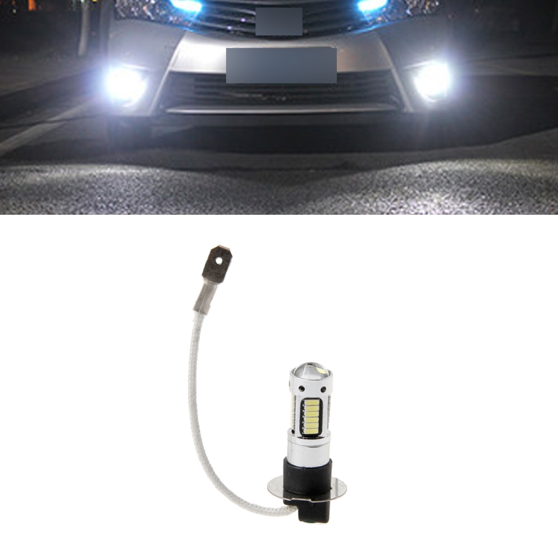 H3 30W 4014 LED Xenon White Headlights Fog DRL Light Kit Bulb Lamp 30SMD 6000K