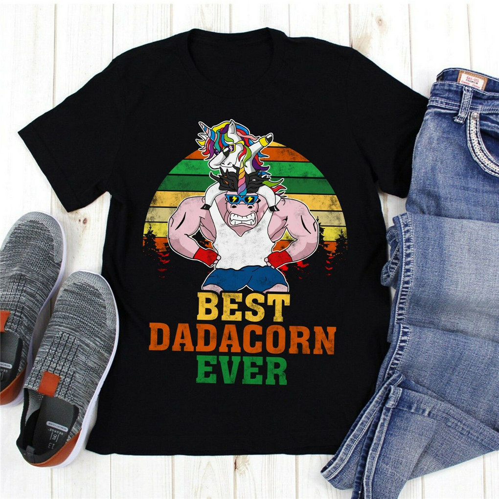 Best Dadacorn Ever Awesome Unicorn Dad T Shirt For Youth Middle-age The Old Tee Shirt