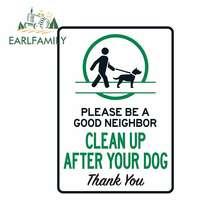 EARLFAMILY Sauber Bis Nach Ihren Hund Zeichen Selbst Anhaftender Aufkleber Etikett Bitte Holen Nach Ihr Haustier Zeichen Werden EINE gute Nachbar Aufkleber