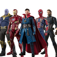 15cm Avengers 4 Endgame Iron Man Thanos SpiderMan Doctor Strange Flash Captain America Black Widow PVC Action Figure toys
