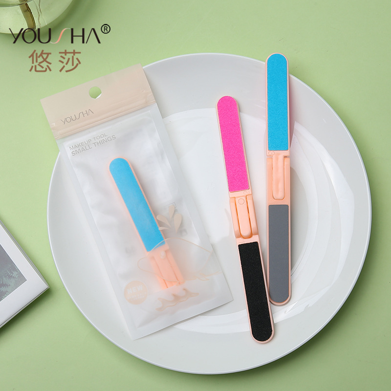 Manufacturers Direct Selling Double-Sided Nail File EVA Foldable Dull Polish Polishing Rub Article Manicure Implement YZ009