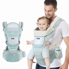 Ergonomic Baby Backpacks & Carriers Cushion Front Sitting Kangaroo Wrap Sling for Baby Travel Multifunction Infant Carrier 0-48M