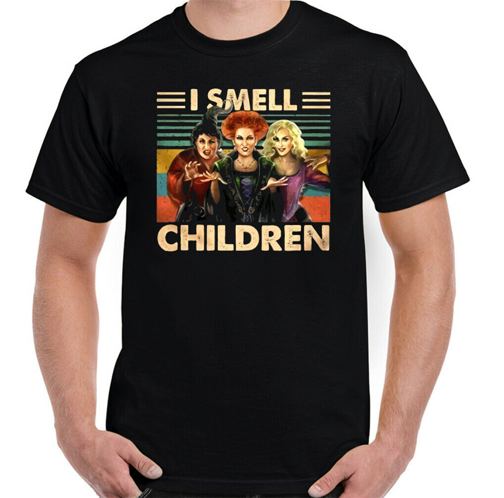 <font><b>Sanderson</b></font> <font><b>Sisters</b></font> T-Shirt Halloween <font><b>Hocus</b></font> <font><b>Pocus</b></font> Mens I Smell Children Tee Top Humorous Tee Shirt image