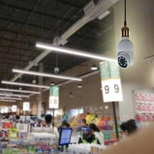 Мини PTZ Wi-Fi камера с цоколем E27 лампочка блок питания полноцветное ночное видение и автоматическое отслеживание для домашней безопасности