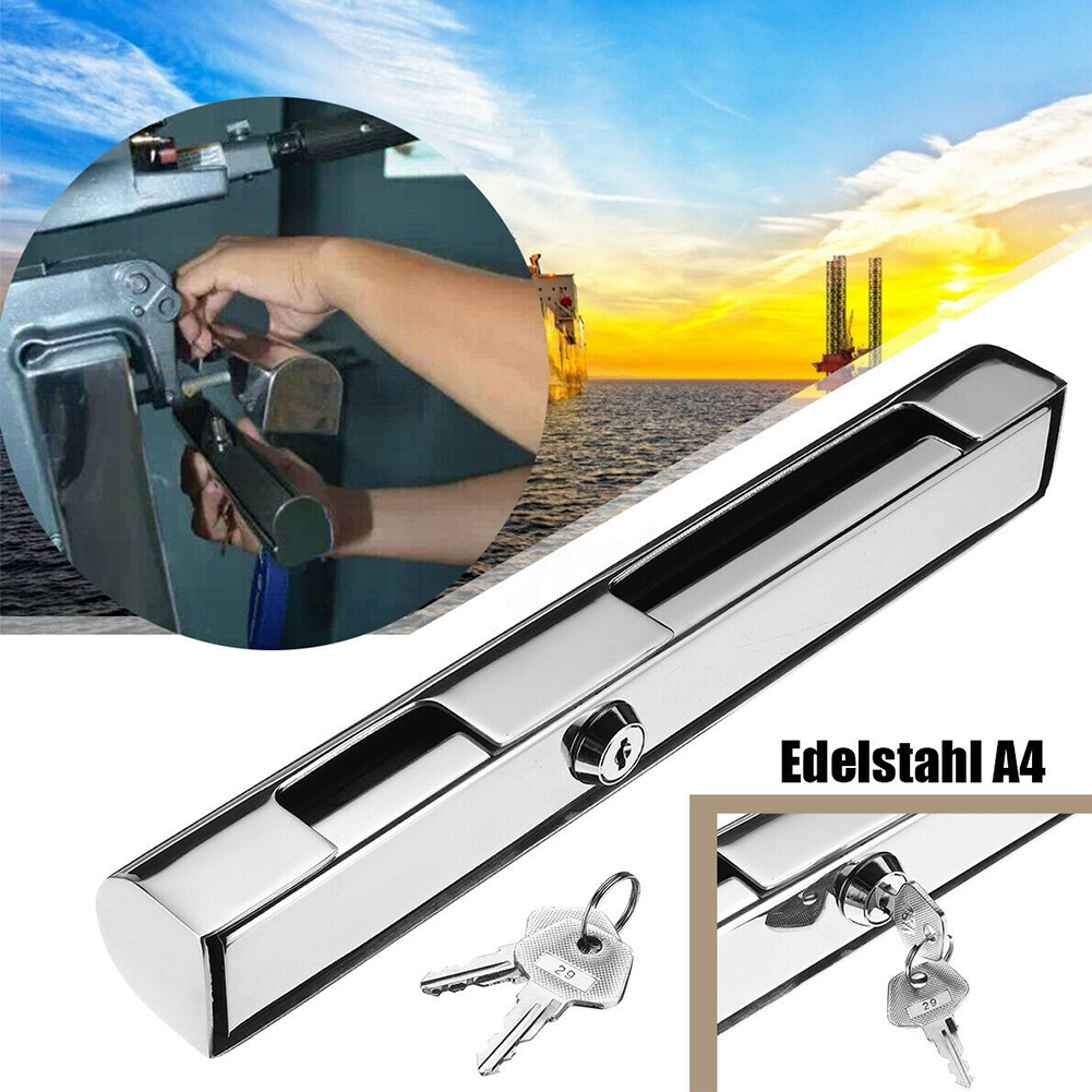Accessories Engine With Keys Hardware Durable For Boat Yacht Stainless Steel Rustproof Replacement Anti Theft Outboard Lock