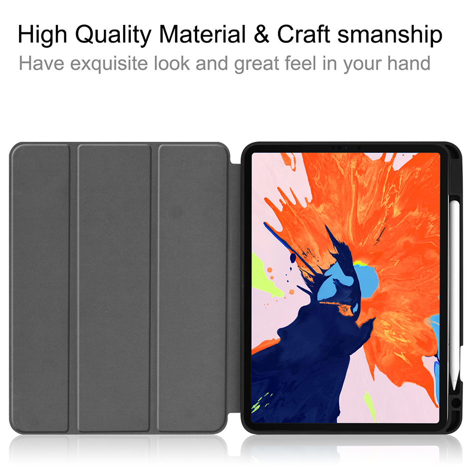 MTT Case For iPad Pro 12 9 inch 4th Generation Tablet 2020 Soft TPU PU Leather