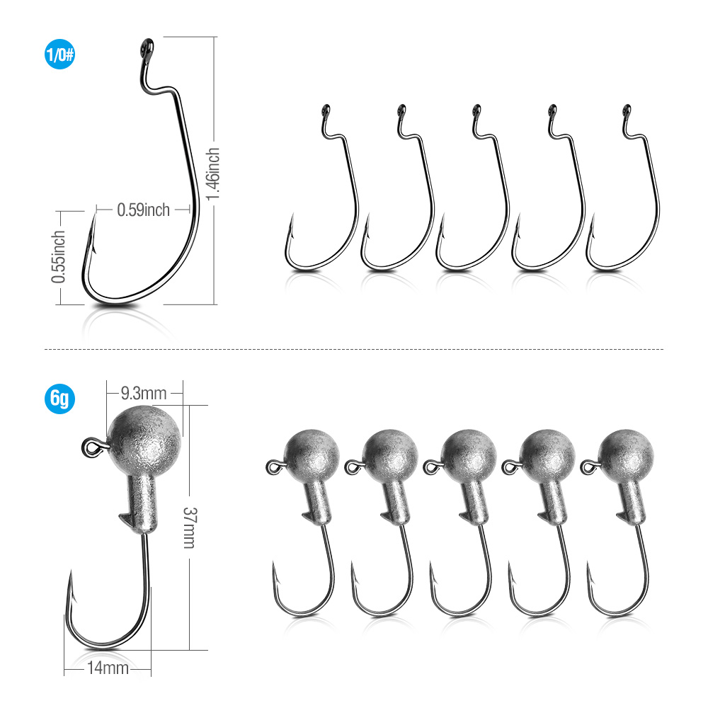 DONQL 20Pcs Soft Fishing Lure Artificial Rubber Worm Bait 2.4g 75mm Silicone Jig Wobbler Swimbait 10pc Fishhook Lure accessories001 (2)