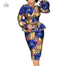 2020 летний Африканский Дашики для женщин o образный вырез юбка