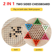 2In1 Chinese Checker Game Strategy Family Game Pieces Backgammon Wooden Educational Board Kid Classic Halma Chinese Checkers Set