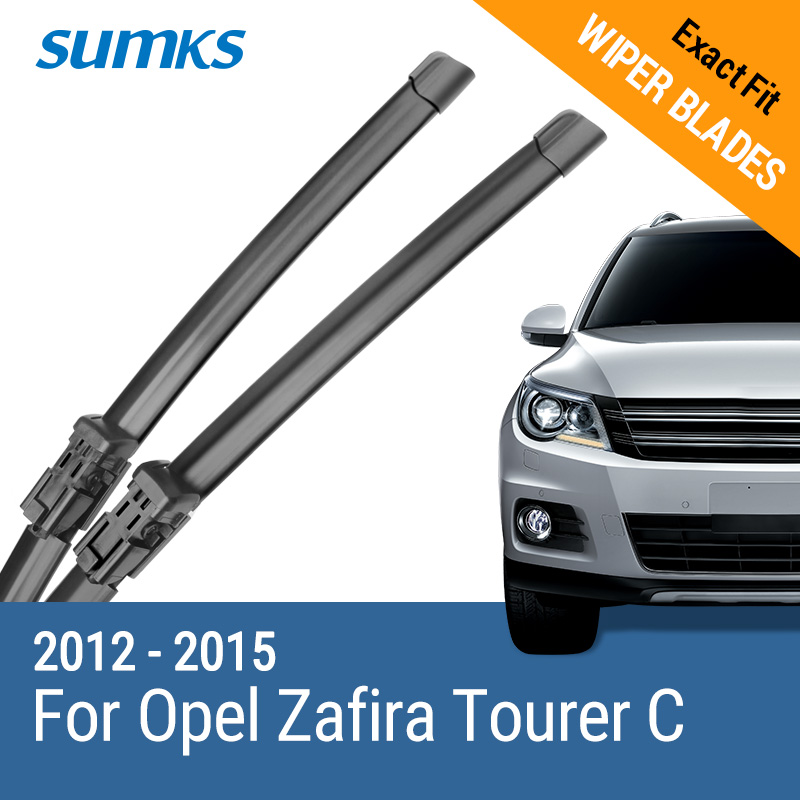 "SUMKS Viskerblader for Opel Zafira Tourer C 32 ""& 28"" Fit trykknapp Arms 2012 2013 2014 2015"