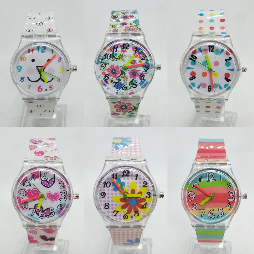 2020 New Jelly Rainbow Children Watch Students Fashion Kids Quartz Watches Simple Life Waterproof Sports Heart Butterfly Watch