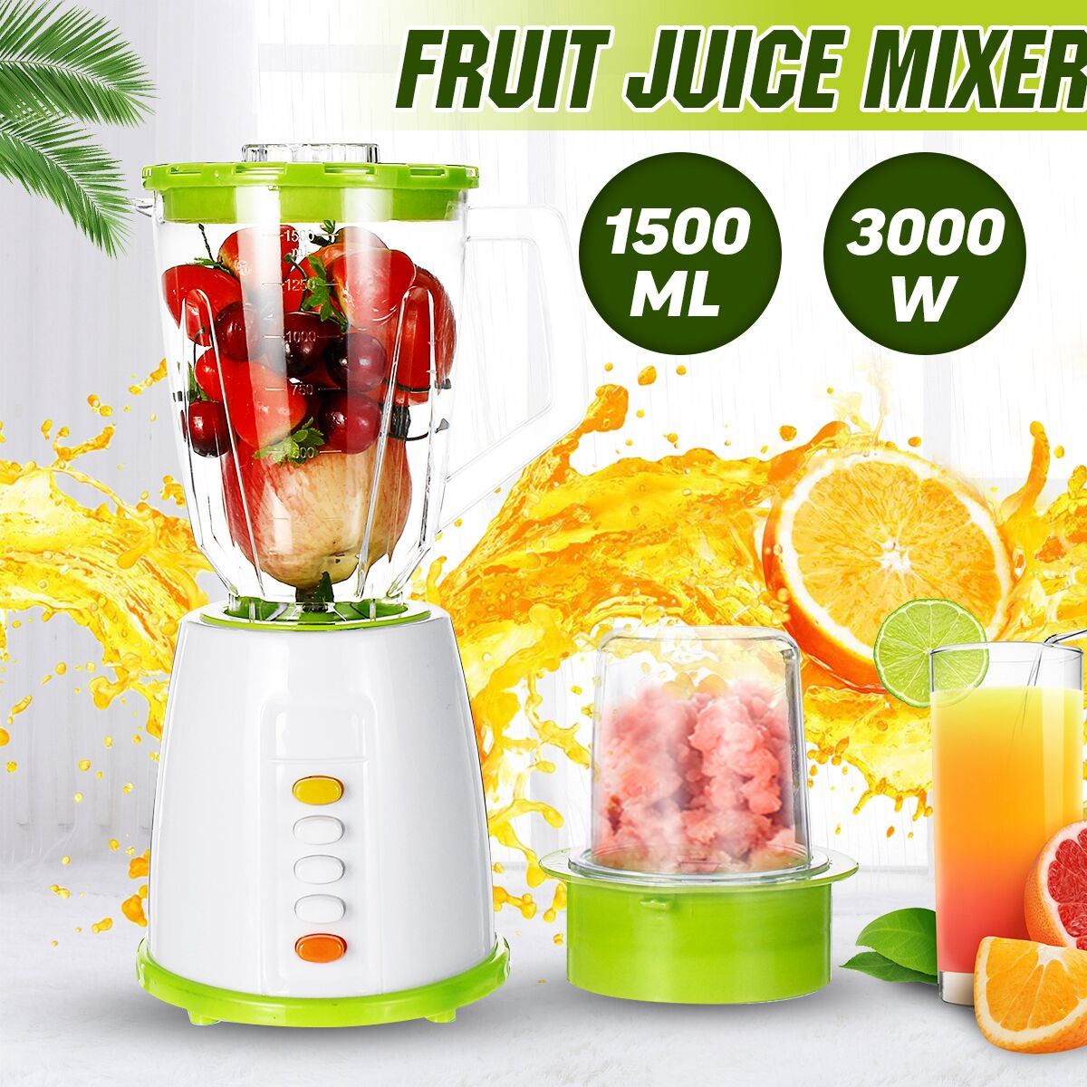 1500ML Multi-functional Nutrition Machine Juice Blenders Fruit Juicer Mixer Timer-Blenders Ice-Crusher Food-Processor Smoothies
