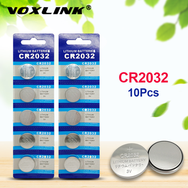 VOXLINK Cr2032original Brand New Battery 3v Button Cell Coin Batteries For Toys Watch Computer Toy Remote Control 10Pcs Battery