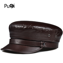 Hat Cap Baseball-Caps Pilot White-Color Real-Leather Woman Girl Red Fashion Pudi HL906