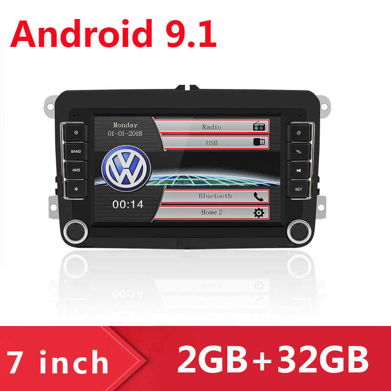 2 Din 7 inch Android 9.1 Car Stereo Radio GPS Navigation Player For Bora Golf VW Polo Volkswagen Passat B6 B7 Multimedia Player