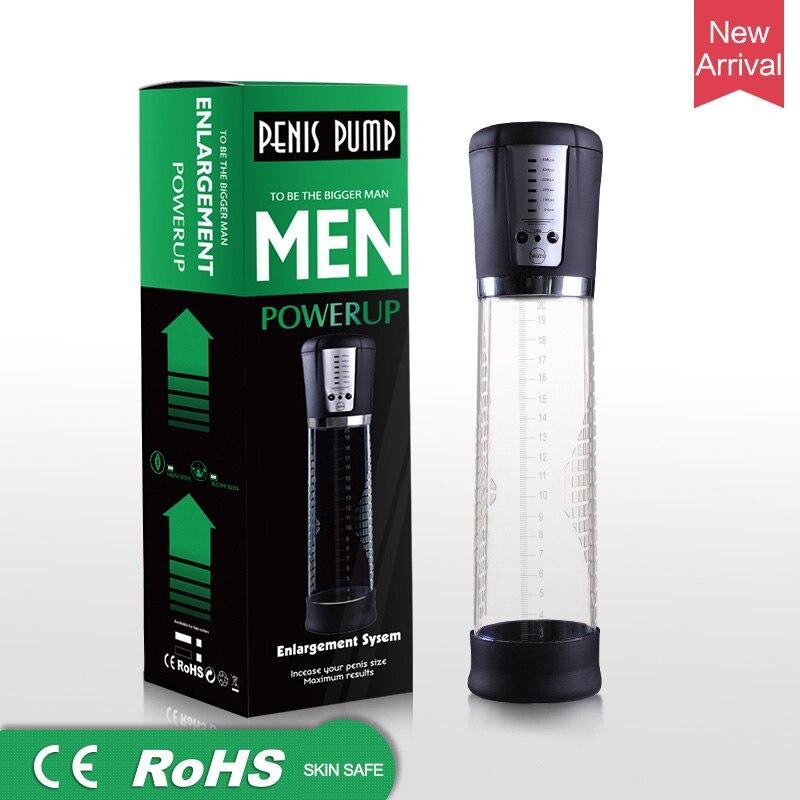 Pompe à pénis automatique électrique USB Rechargeable agrandisseur de pénis pompe à vide puissant agrandissement de pénis Extender jouets sexuels pour les hommes 1