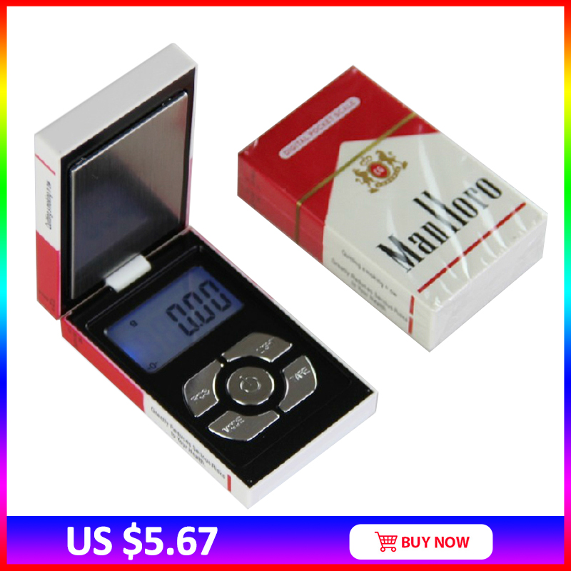 New Pop Mini Pocket Electronic Digital Jewelry Scale for Gold Cigarette Box Weigh Balance 0.01 200g Weights digital mini scale