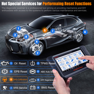 Image 3 - Autel قارئ رمز السيارة MaxiCOM MK808BT ، أداة تشخيص السيارة مع جميع الأنظمة و 21 خدمة ، IMMO ، إعادة ضبط الزيت ، EPB ، BMS ، SAS ، DPF ، ABS