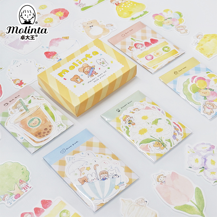 10set/lot Memo Pads Sticky Azhuo Girl Foundation Diary Scrapbooking Stickers Office School Stationery Notepad
