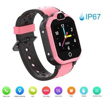 4G Children's Network G46 Wifi GPS SOS Smart Watch Kids BT Video call IP67 waterproof Sim Card Camera Baby Watch PK Q50 Q90