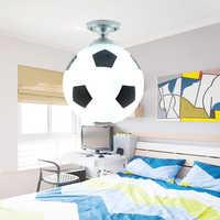 Luz LED de techo para balón de fútbol, lámpara de techo estilo fútbol, iluminación interior de 220V, decoración para Bar, dormitorio, luz para habitación infantil