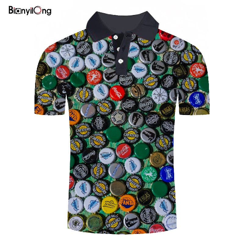 2019 New Man   Polo   Shirt Mens Casual   Polos   Men Short Sleeve shirt   Polo   cover 3D print Shirts Short Sleeve Summer   polo   homme
