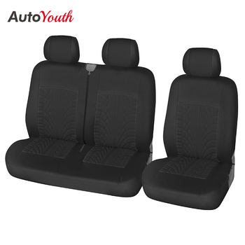 AUTOYOUTH 2 + 1 pokrowce na siedzenia samochodowe uniwersalne na większość samochodów ochraniacz na fotel pokrywa akcesoria do wnętrz samochodowych pokrowce na siedzenia samochodowe tanie i dobre opinie Cztery pory roku Poliester CN (pochodzenie) 62inch Pokrowce i podpory 0 55kg Seat covers for van polyester 1+2 Seat Covers