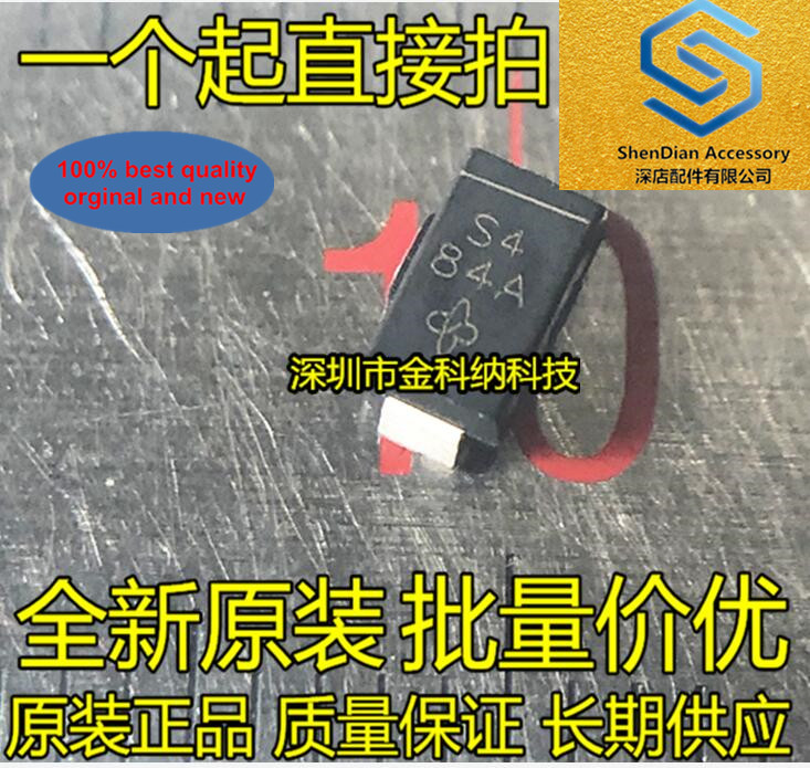 50pcs 100% Orignal New SS14-E3 / 61T Screen Printing S4 SMD Schottky Diode DO-214AC / SMA In Stock