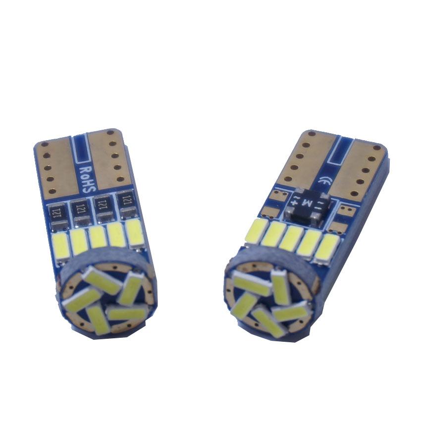 250 Pcs <font><b>T10</b></font> Bulb Car Led 194 <font><b>T10</b></font> Led <font><b>Canbus</b></font> <font><b>t10</b></font> 15 SMD <font><b>4014</b></font> Car LED Signal Light Parking Styling Fog Lamp image