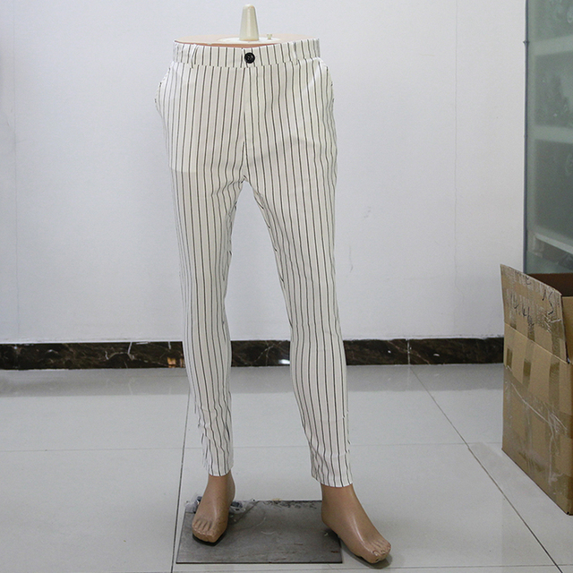 New Men's Striped Casual Slim Fitness Pants Male Trousers Business Pencil Casual Fashion Elastic Bodybuilding Streetwear 5