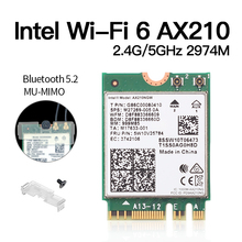 Dual Band 2974Mbps AX210NGW 802.11ax/ac Wireless card For Intel WI-FI 6E AX201 M.2 NGFF Bluetooth 5.2 Wifi Network Wlan 2.4G/5G