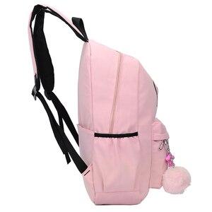 Image 3 - 2020 styl Preppy moda Cartoon kobiety tornister plecak podróżny dla dziewczyn nastolatek stylowa torba na laptopa plecak dziewczyna tornister