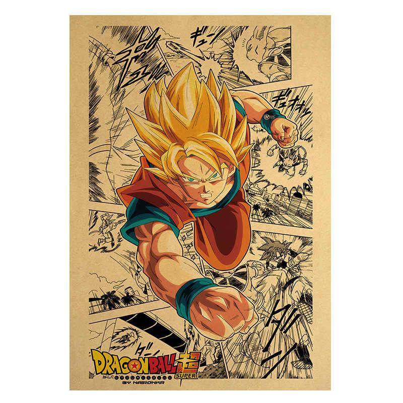 Dragon Ball Cartoon Movie plakat papier pakowy plakat Retro naklejka ścienna dekoracyjny obraz dekoracyjny do domu 51.5X36cm