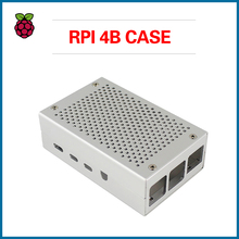 S ROBOT For Raspberry Pi 4 Case Cooling Heatsinks Black Silver Fit Metal Enclosure Protective Box RPI150