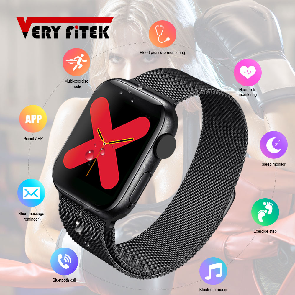 IWO Max Smart Watch Phone Call Bluetooth Smart Watch 1:1 Strap Change Waterproof 44mm Smart Band for IOS Android PK IWO 8 IWO13